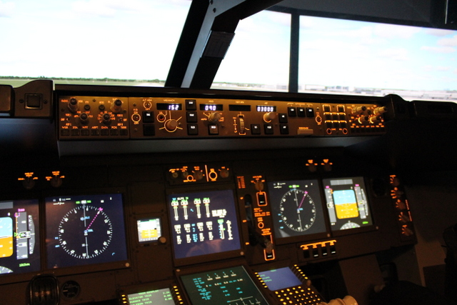 Cockpit Blick im iPilot Simulator