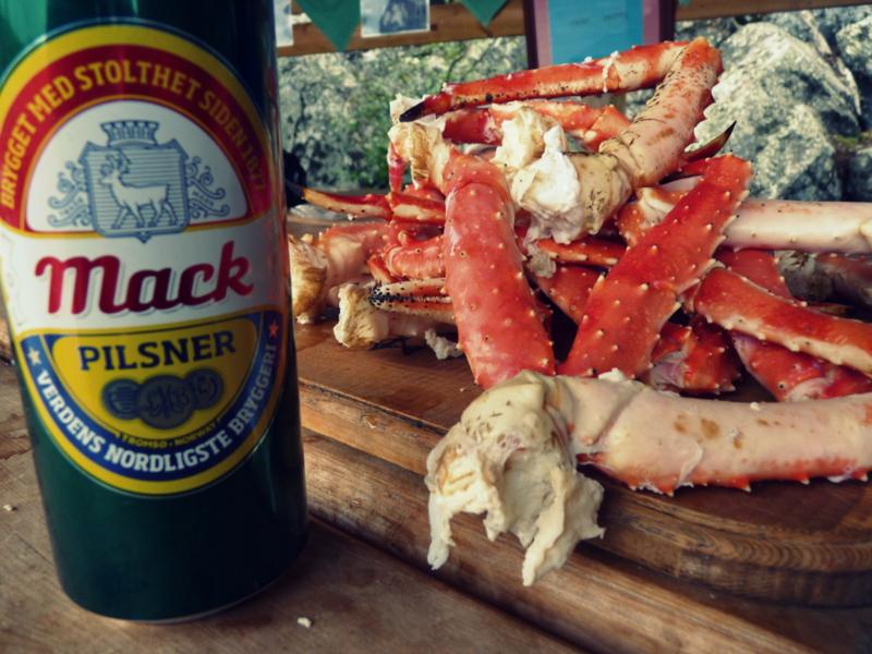 Kirkenes -Bier und Krabbe