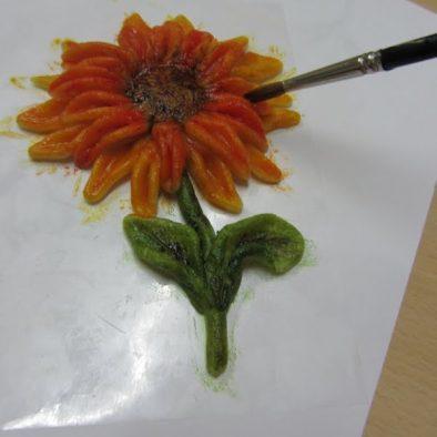 Sachertorten mit Sonnenblumen - oder wie ich selbst zum Tortendekorateur wurde