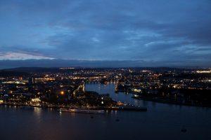 Koblenz blaue Stunde