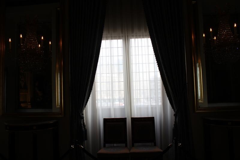 Da geht es hinaus zum königlichen Balkon...