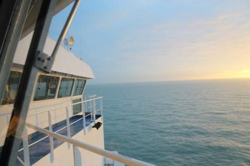 Blick von der Brücke der King Seaways DFDS