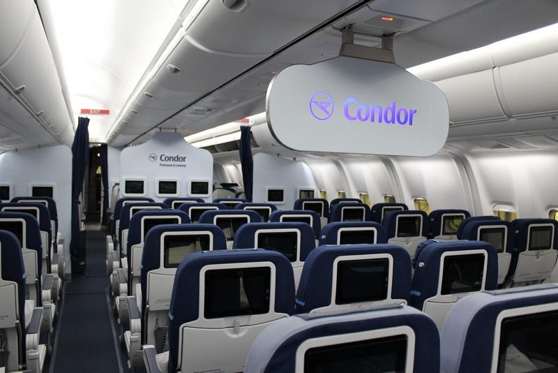 In einer Condor Kabine