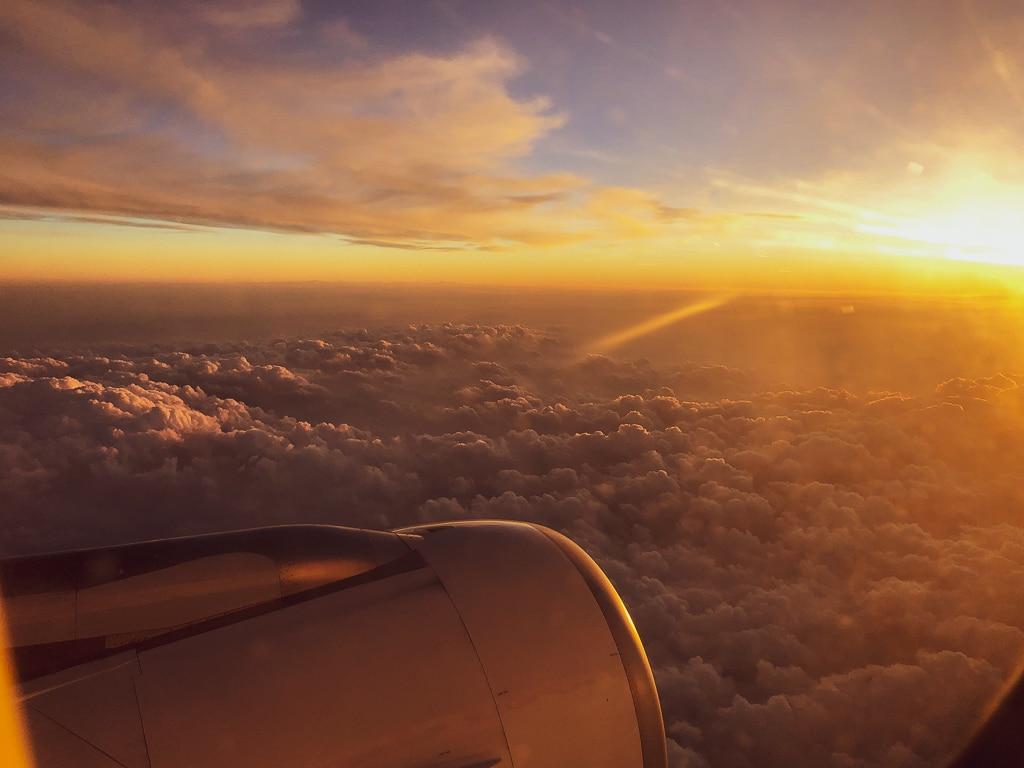 Über den Wolken im Sonnenschein