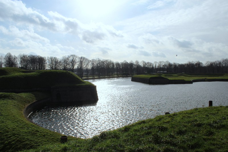 Der Blick vom Festungswall in Naarden