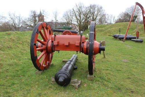 Kanone im Festungsmuseum Naarden