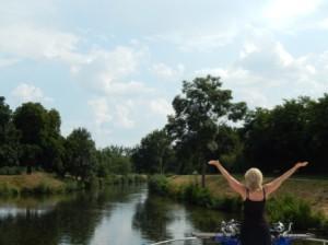 Unterwegs im Hausboot auf der Mayenne – von winzigen Duschen und französischer Lebensart