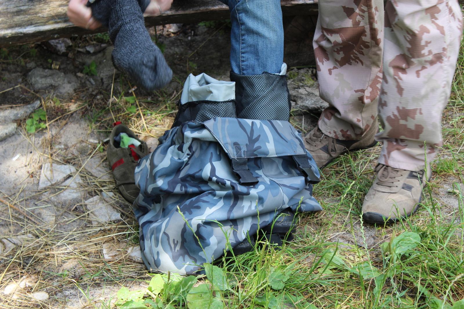 Eine Wasserfeste Hose und Stiefel sind ein Muss!