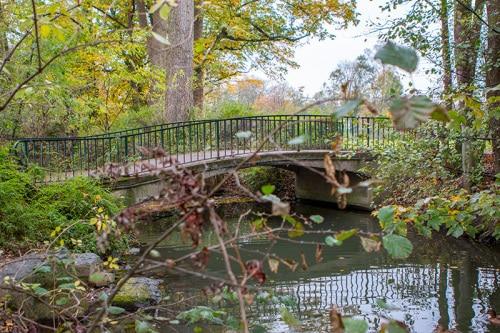 Eine noch verbliebene Brücke.