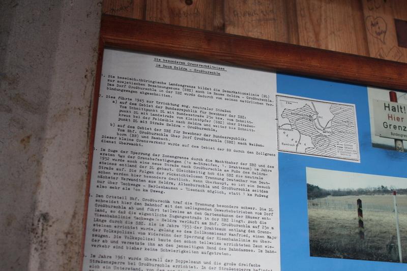 Im ehemaligen Grenzgebiet - vom Turm der Einheit auf dem Heldrastein