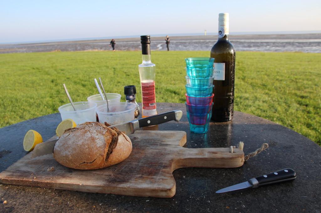 Ein Austern - Picknick