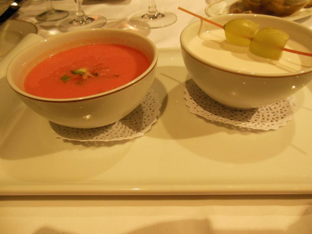 Parador Roda - Vorspeise Tomaten- und Mandelsuppe