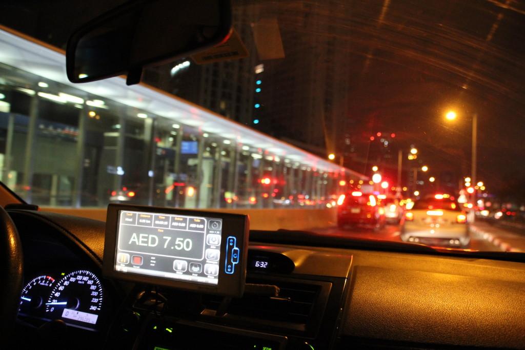 Taxifahren in Dubai
