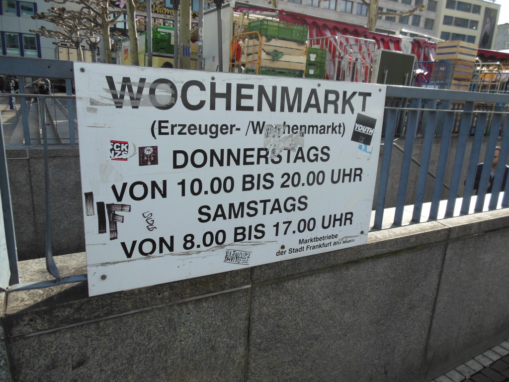 Heimatliebe Frankfurt am Main - Wochenmarkt an der Konstablerwache