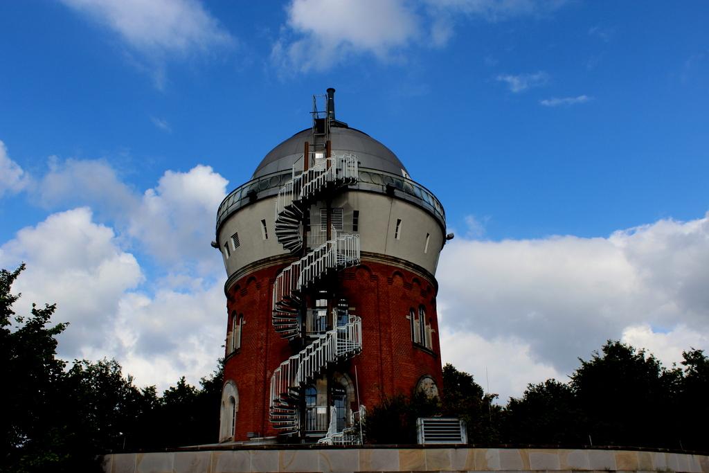 Eine Camera Obscura in einem alten Wasserturm
