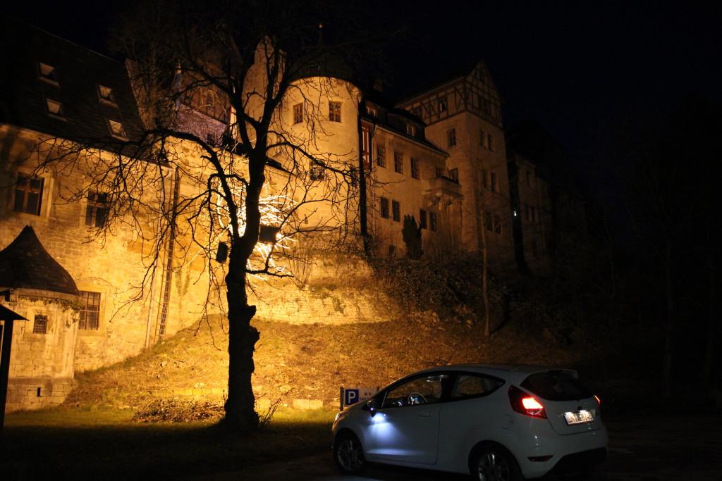 Einfahrt am Abend Beichlingen