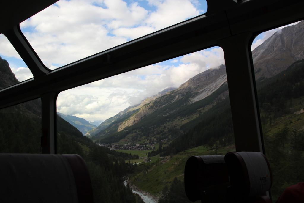 aus dem Panoramafenster