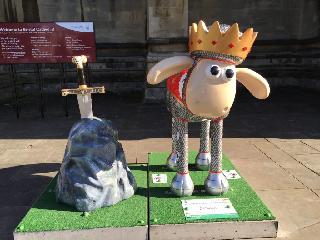 Shaun Figur in Bristol
