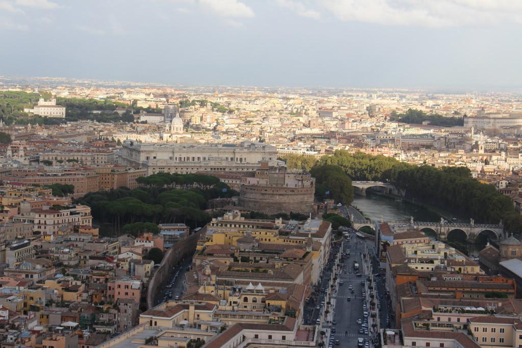 Blick auf Rom - mit Engelsburg und Tiber