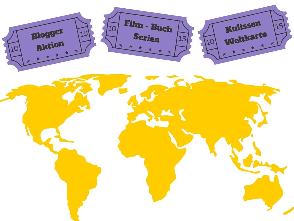 Reise durch Bücher, Filme und Serien um die Welt: Die Blogger-Kulissen-Karte