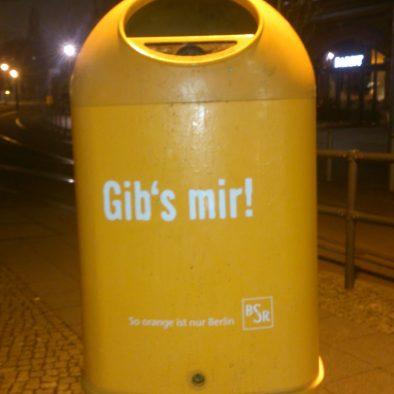 Die sprechenden Mülleimer von Berlin