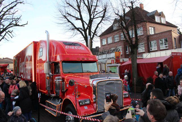 CocaCola Weihnachtstour - die Weihnachtstrucks in Kaltenkirchen