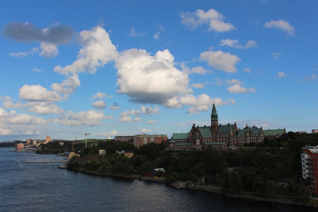 Stockholm - Blick auf die Stadt vom Schiff