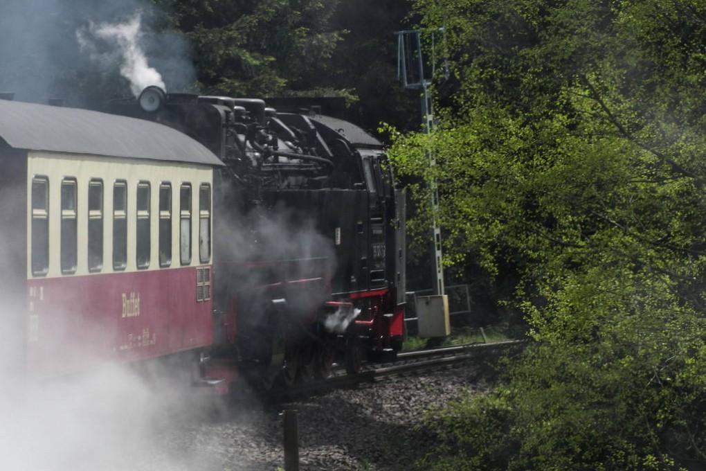 Dampflok auf Brocken (23)