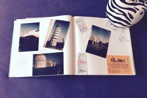 Die analogen Erinnerung von meinem ersten Flug. Nach Pisa.