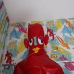 Und mein neuer Freund Roter Gummimann ;)