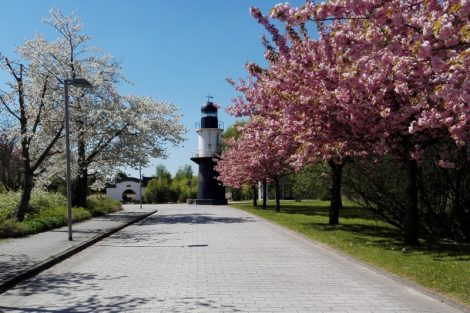 IGA Rostock Frühling Leuchtturm