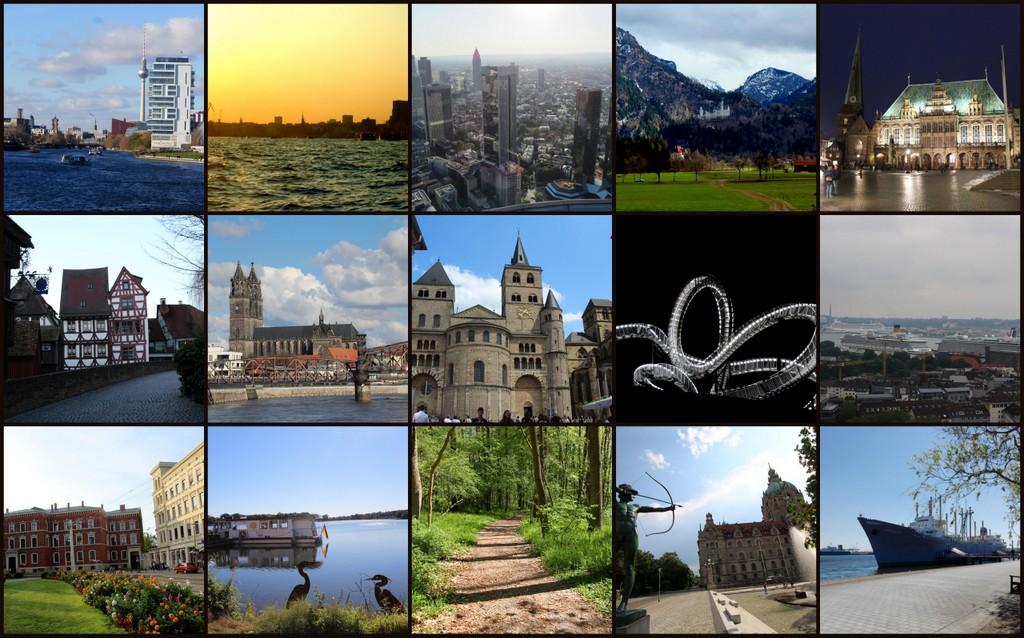 Reiseblogger für Deutschland - eine Übersicht.
