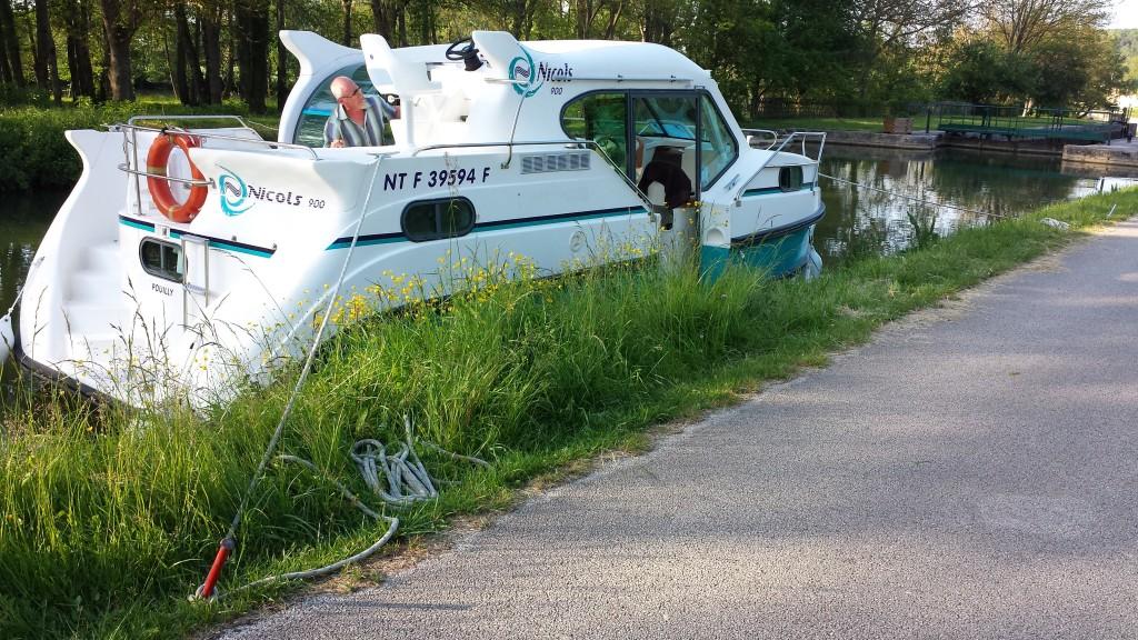 Unsere Hausboottour in der Bourgogne - von Cravant fast bis nach Bailly