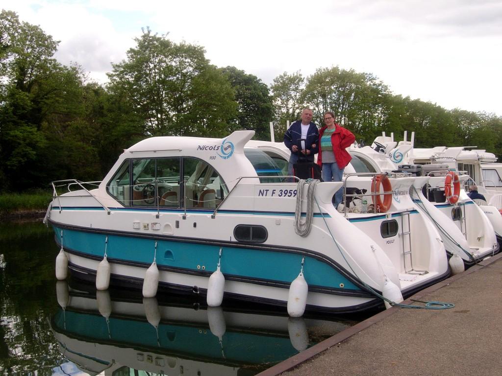 Unsere Hausboottour in der Bourgogne - die ersten Schritte.
