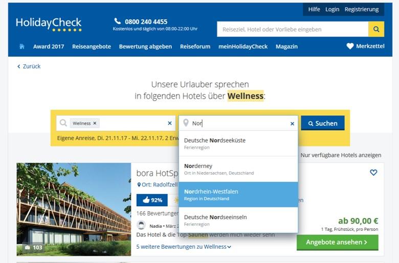 Urlaubsplanung leicht gemacht: Wellness-Auszeit leicht gemacht (Kooperation HolidayCheck)