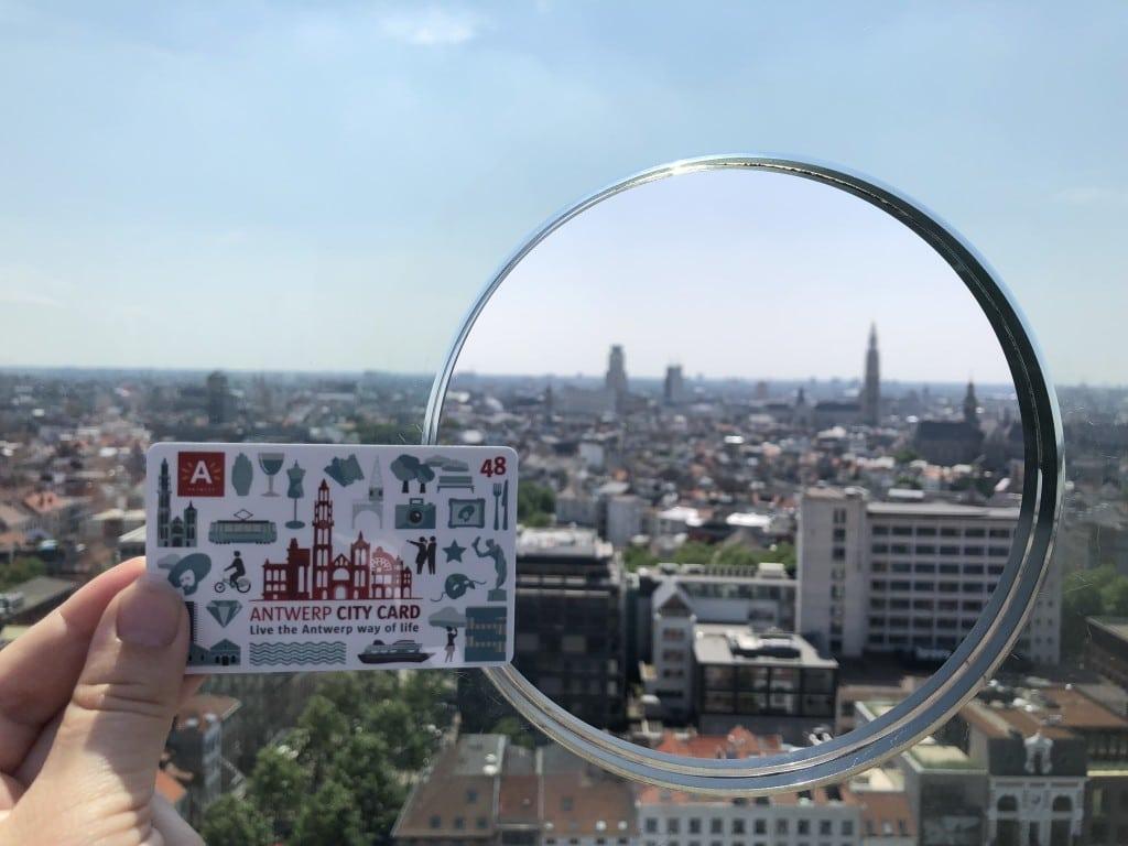 Blick auf Antwerpen mit Antwerp City Card