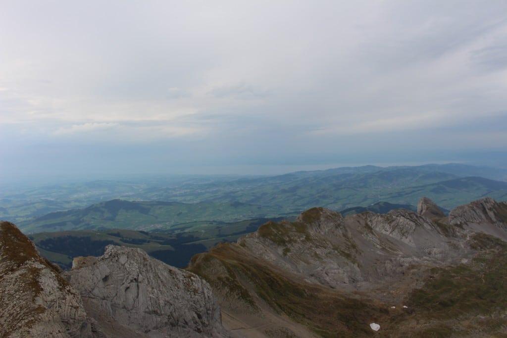 Blick auf den Bodensee vom 2501 m hohen Säntis
