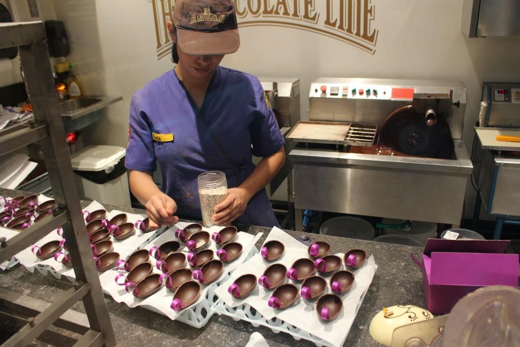 Blick in die Werkstatt von Chocolate Line