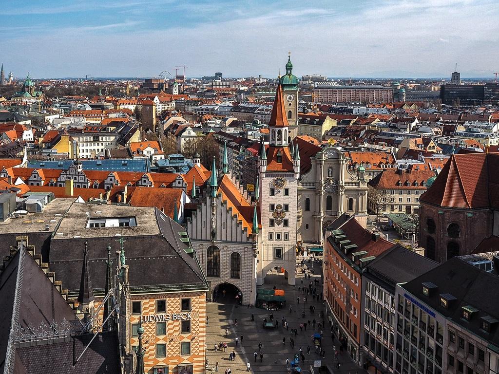 Blick vom Rathausturm München