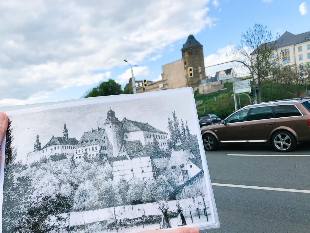 Das Schloss Plauen Heute und Damals