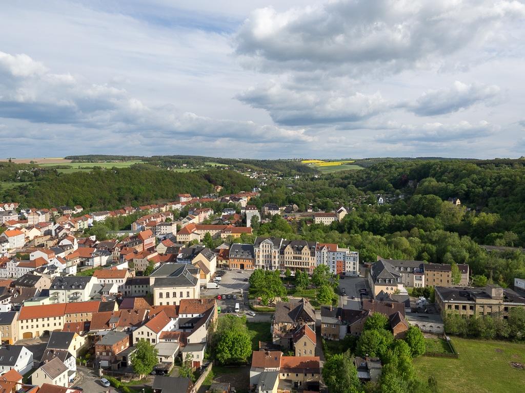 Weida - Blick von der Osterburg