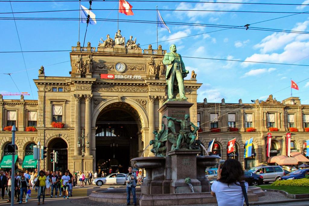 Der Hauptbahnhof von Zürich
