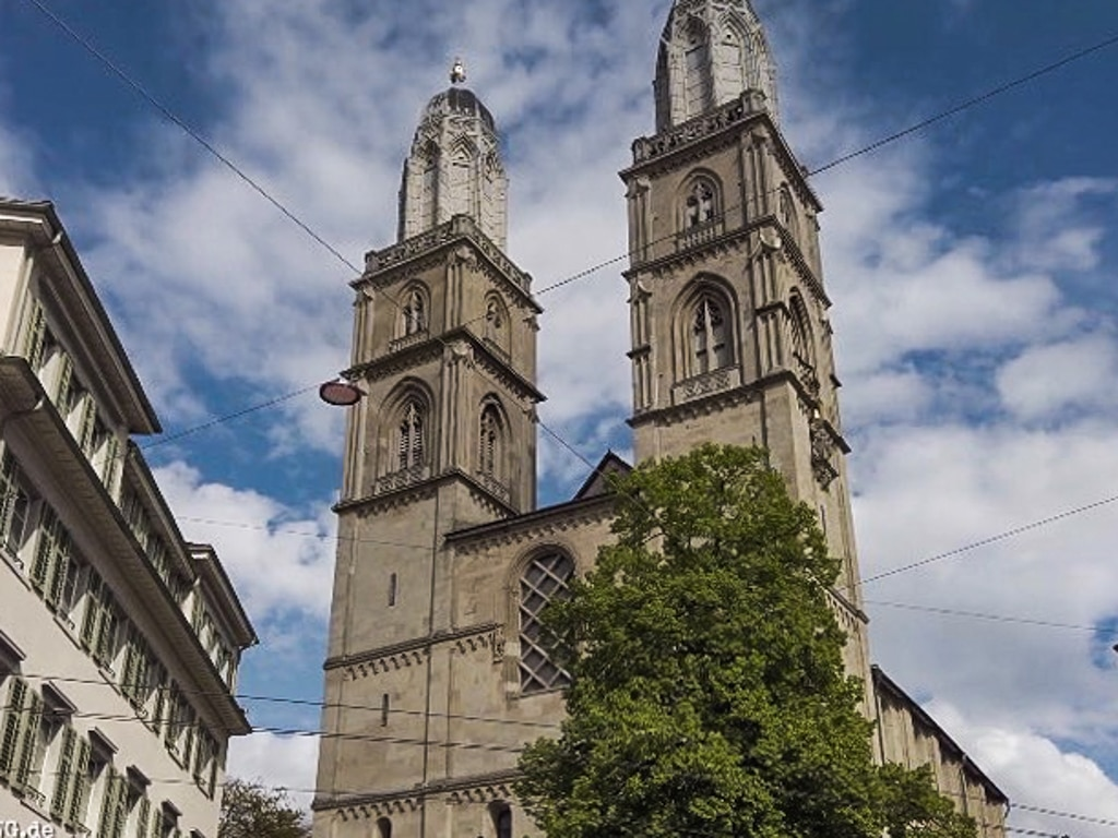 Grossmünster Zürich. Kirche in der Altstadt