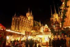 Erfurter Dom zur Weihnachtszeit