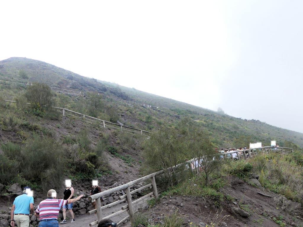 Vesuv - Weg nach oben