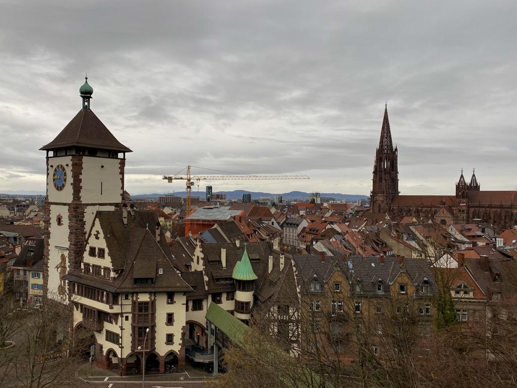 Der Blick von Schlossgarten auf das Schwabentor