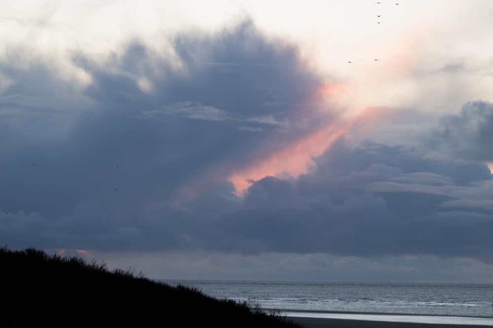 Himmel Spiekeroog am Strand