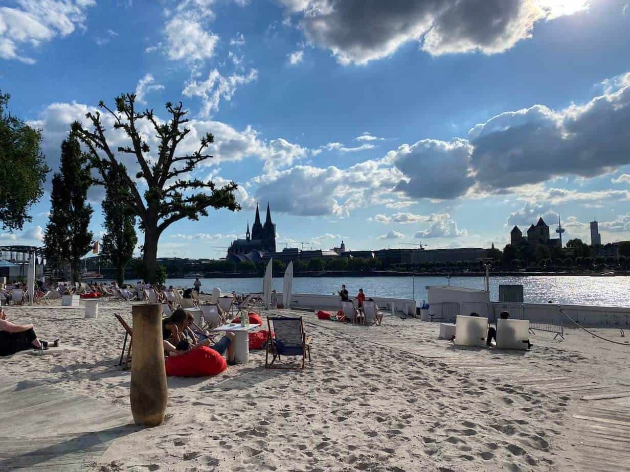 Am Strand in Köln