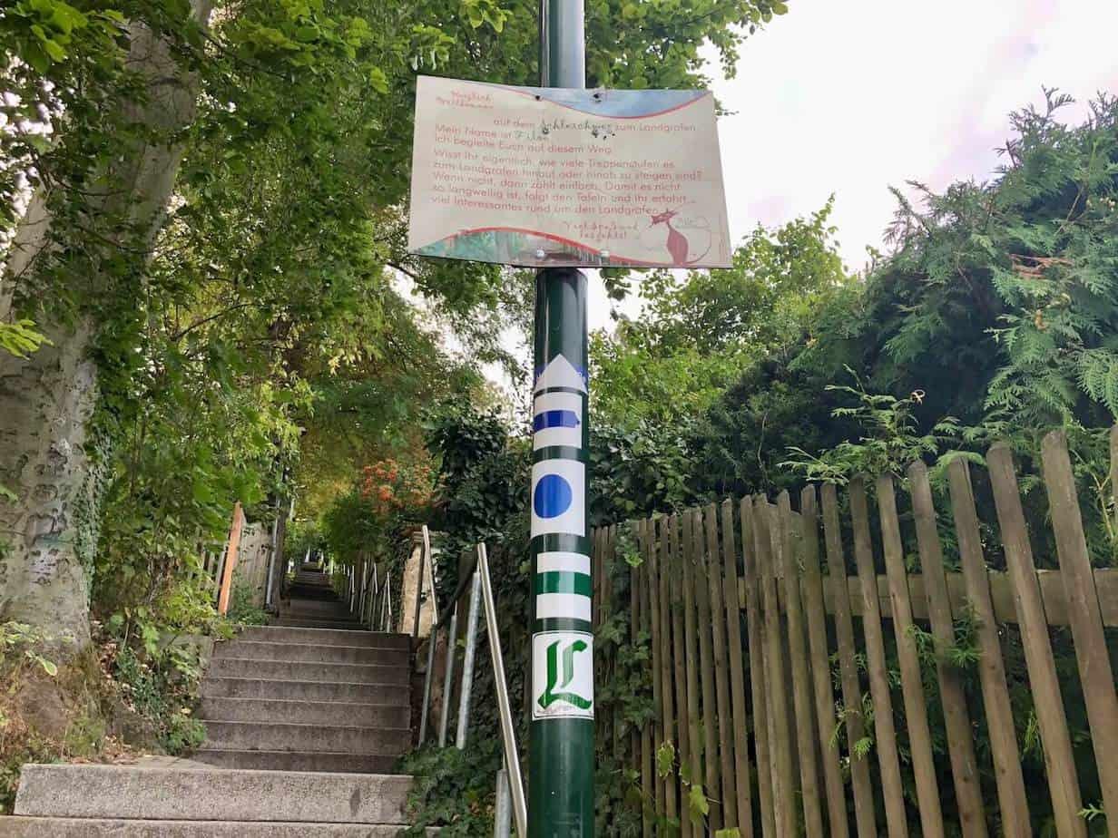 300 Treppenstufen zum Landgrafen in Jena