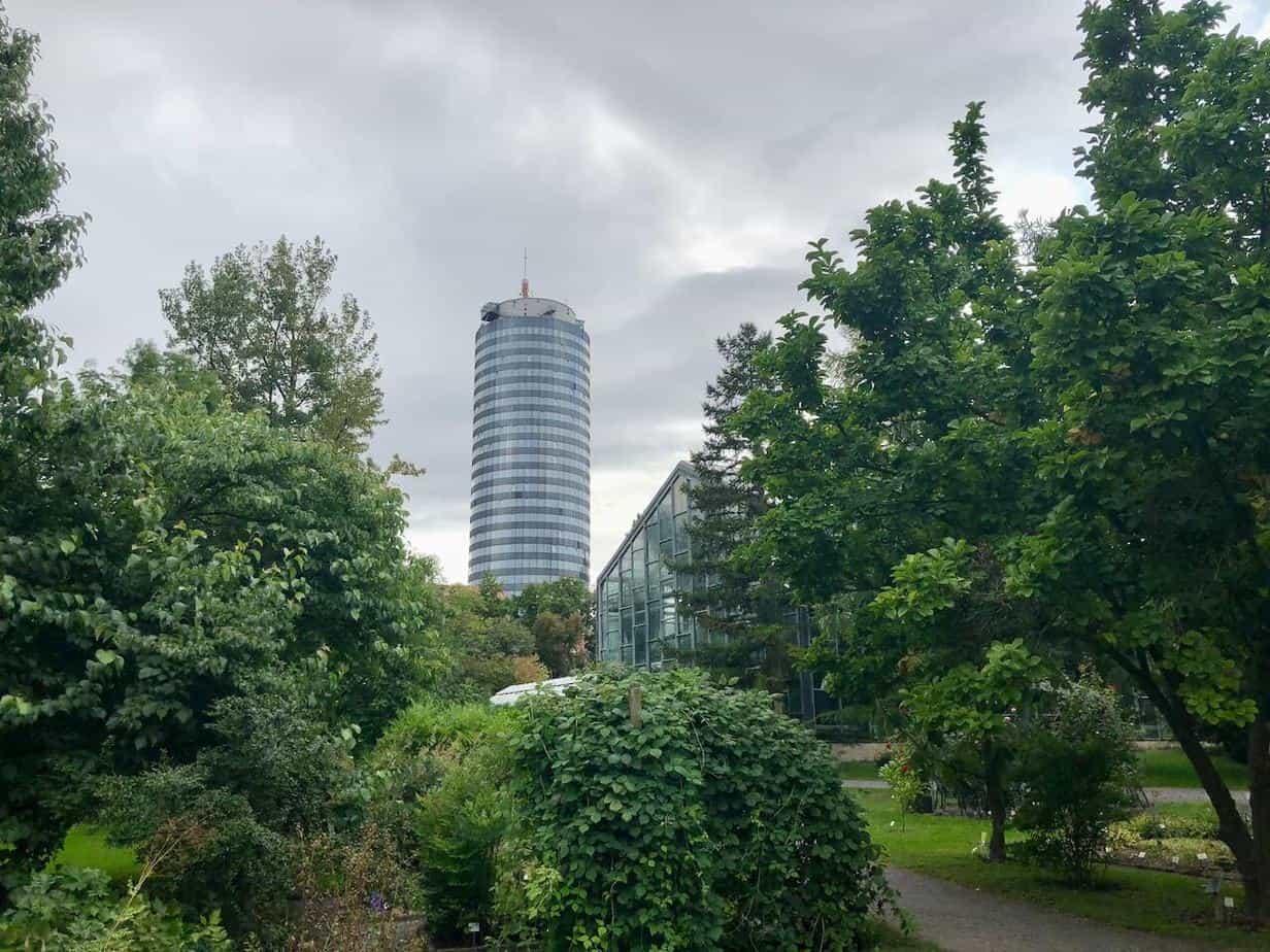 Botanischer Garten Jena Blick Jentower